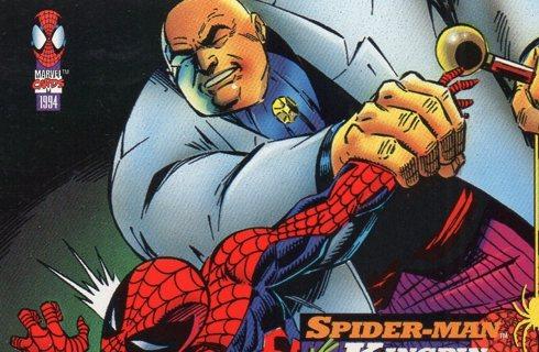 1994 Spider-Man: Collectible/Trade Card: Spider-Man vs King Pin