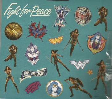 "One Sheet* 5 1/2 x 5 1/2"" Wonder Woman Stickers"