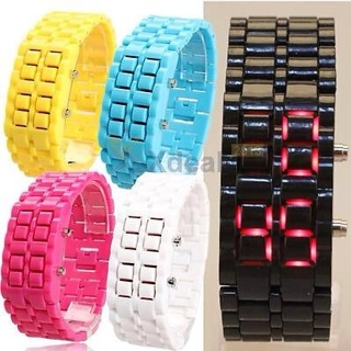 2015 Men Womens Lava Samurai Iron Watch LED Digital Faceless Bracelet Wristwatch
