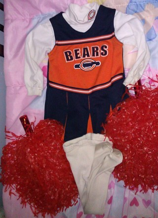 3T Chicago Bears Cheerleader Outfit