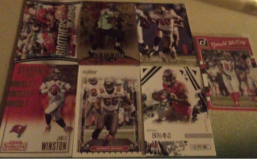 Tampa Bay Buccaneers 7 Card Lot