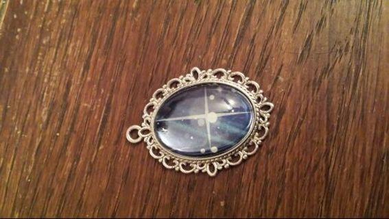 Pretty bubble glass pendant!