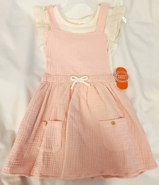 GIRLS 2 PIECE DRESS WITH SHIRT SIZE 4T **BRAND NEW WITH TAGS**