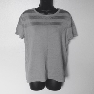 NWTs Carmen Marc Valvo Steel Gray Top, Size XL