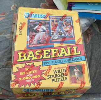 4 packs (not box)1991 Donruss Series 1 Baseball Cards