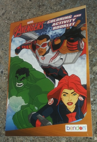 MARVEL AVENGERS MEDIUM COLORING AND ACTIVITY BOOK LOT 1