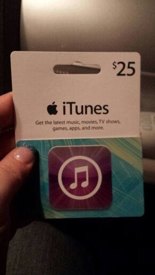 Free: $25 dollar UNUSED Itunes Gift Card - Gift Cards