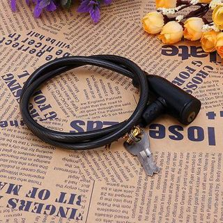 Cycling 8x640mm Cable Anti-theft Bike Bicycle Safety Scooter Lock With 2 Keys