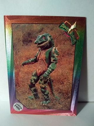 Power Ranger Foil Framed Trading Card