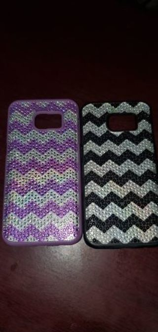 Set of 2 plastic phone cases for Samsung Galaxy S7