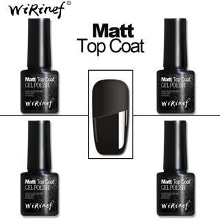 WiRinef Clear Transparent Matte Top Gel Semi-permanent Primer Gel Top Coat UV Base Coat Uv Led Nai