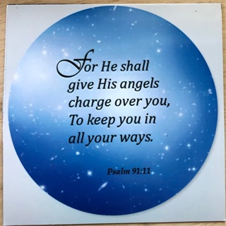 """Angels will watch over you - 4 x 4"""" MAGNET"""
