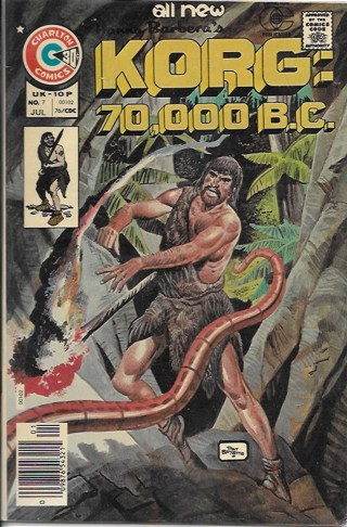 All New Korg: 70,000 B.C. #7 Charlton Comics