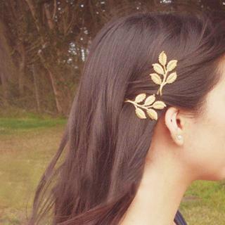 1 Pair Alloy Leaf Hair Clip Hairpin Barrette Women's Wedding Hair Accessories