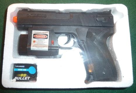 UKARMS 666AF  Air Soft Pistol w/LED Light & Laser