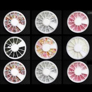 Nail Art Rhinestones Gems Beads Stones Wheel Nail Deco Taiwan Nail Art Tips