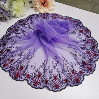 Lace Fabric Embroidered Edge Trim Ribbon Wedding Applique DIY Sewing Craft