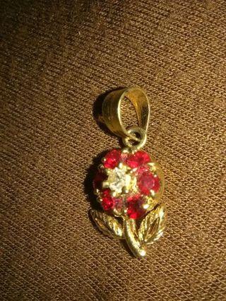 14k ruby pendant