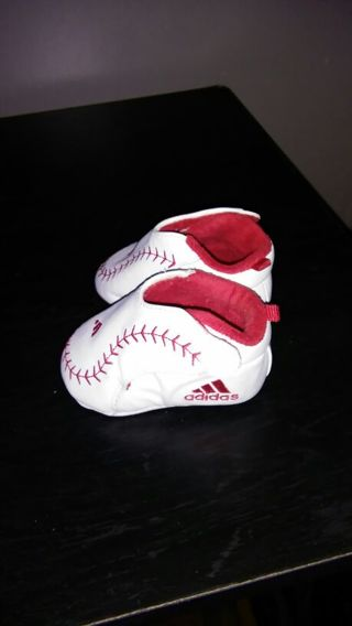 Free: ADIDAS baseball baby shoes size 0 (0-3 months)..Adorable ...