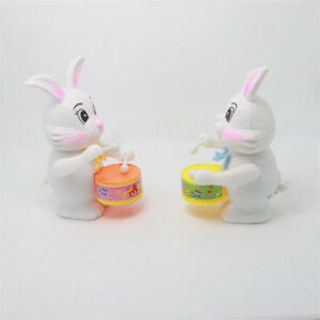 Developmental Spring Clockwork Gift Hammer Drumming Toys Rabbit Drum Toys