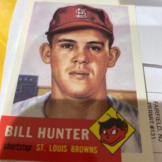 1953 topps archives bill hunter baseball card