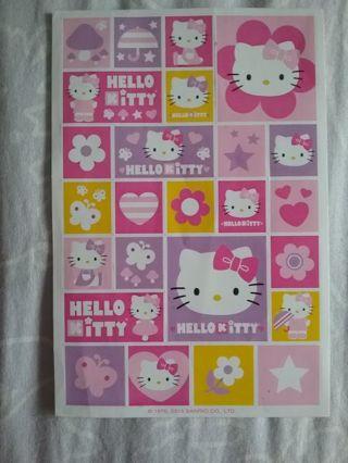 Hello Kitty stickers 1 sheet