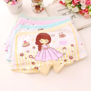 2PCs Baby Girl Kids Cotton Soft Cartoon Princess Shorts Underwear Panties New