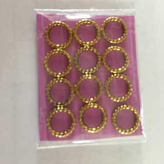 REDUCED 12NEW  FANCY 0 RINGS IN  GOLD TONE