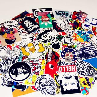 50PCS Stickers Skateboard Vintage Vinyl Sticker Laptop Luggage Car Decals Mix