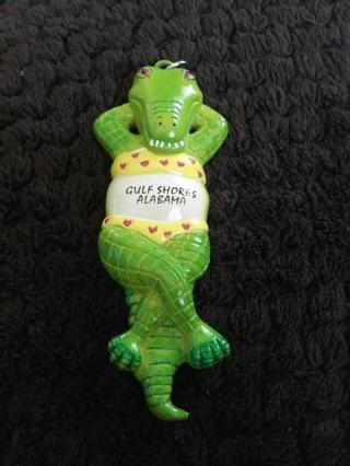 Alligator Keychain From Gulf Shores