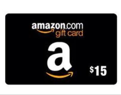 AMAZON GIFT CARD 15 DOLLAR