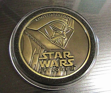 Free Star Wars Episode Iii Limited Edition Coin Darth