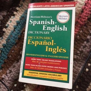 Spanish to English Dict