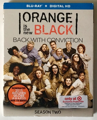Orange Is the New Black: Season Two (Blu-ray Disc, 2015, 3-Disc Set) with Slipcover - New Sealed!
