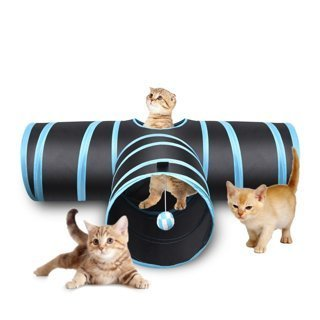 1 NEW Cat Tunnel Collapsible Pet Toy Tunnel with Ball for Cat Puppy Kitty Kitten Rabbit