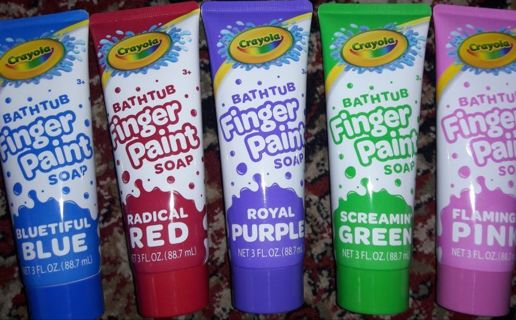 Bathtub finger paint soap (( Crayola )) Free shipping