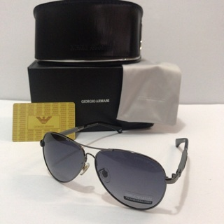 Armani Unisex Polarized Sunglasses 61mm