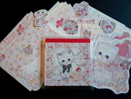 "Clothes•Pin~Amenomori Fumika ""Lovely Cat"" Med. Memo Pad, Letter Sets, Stickers & More ☆Kawaii Bonus☆"