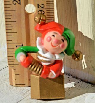 Vintage Hallmark Christmas Jester Jack in the Box Holiday Happy Lapel Pin 1984