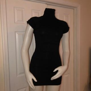 Xhiliration Black Tunic Dress Small