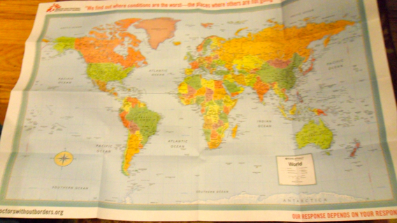 Free doctors without borders world map poster other listia doctors without borders world map poster gumiabroncs Images