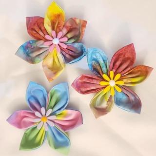 HANDMADE 3 SUMMER FLOWER MAGNETS***LQQK***