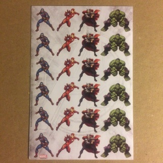 Marvel Sticker Sheet ~ 24 Stickers Total ~ NEW!