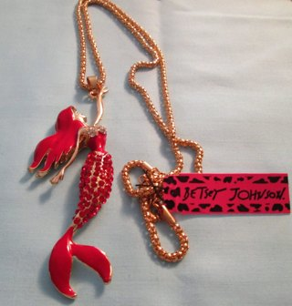 Authentic Betsey Johnson Mermaid Necklace