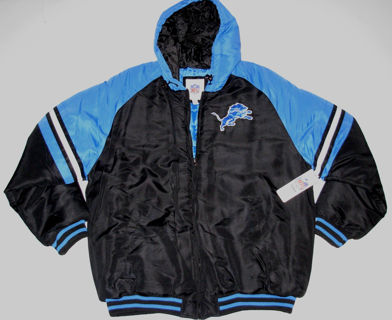 Detroit Lions Jacket Lined & Hooded Size Large Brand New w/Tag