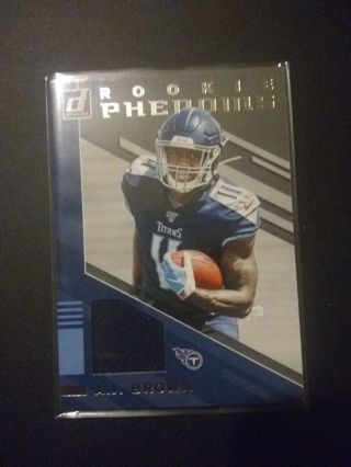 2029 Donruss Rookie Phenoms Relic A.J. Brown Tennessee Titans