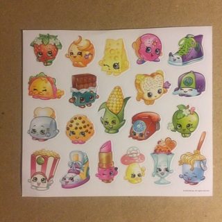 Shopkins Stickers ~ 1 SHEET (20 STICKERS TOTAL) ~ NEW!