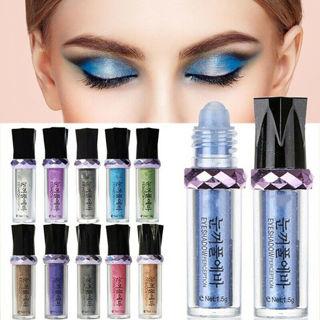 11 Colors ROLL ON EYE SHIMMER Makeup Eyeshadow Glitter Pigment Powder Body Dust
