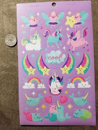 Rainbow & Unicorn Stickers