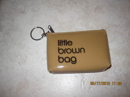 Bloomingdales Little Brown Bag Key Chain Money Pouch